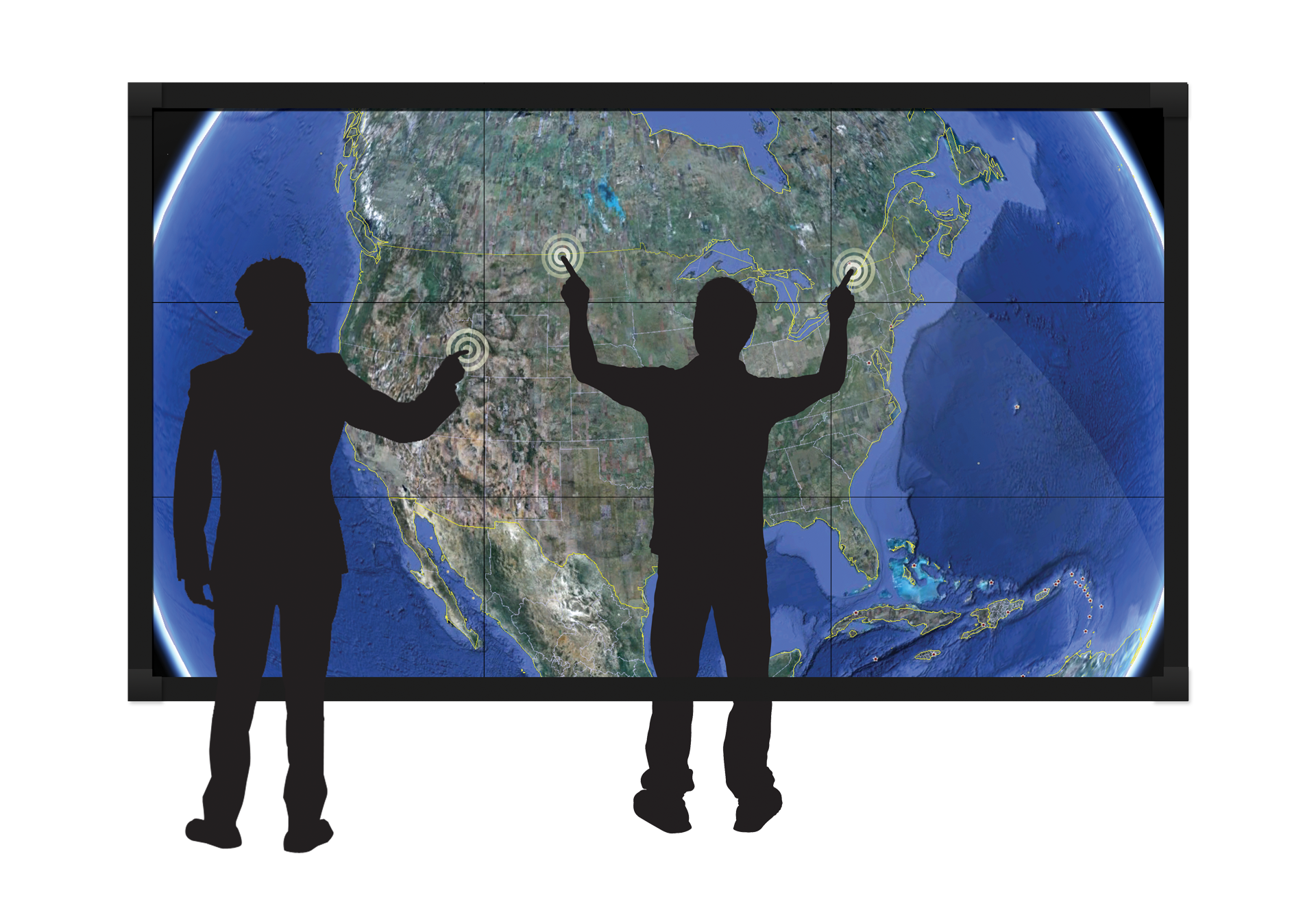 Clarity Matrix Multitouch Interactive Lcd Video Wall Planar