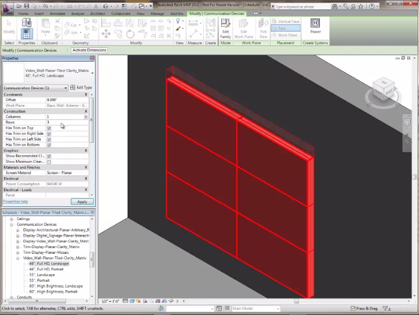 Revit Clarity Matrix Screen Capture