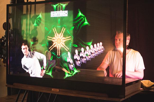 Transparent OLED Creates Contextual Halo for Branding   Planar