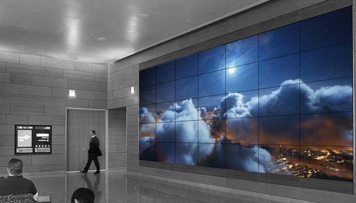 doctor office hd wide wallpaper lcd led digital wall displays signage solutions planar