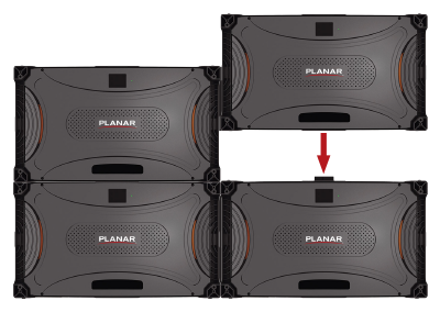 Planar TVF Series' stackable, cableless design